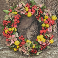 Servilletas Lunch Autumn wreath