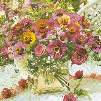 Serviettes lunch Garden zinnias