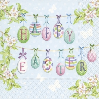 Napkins 33x33 cm - Happy Easter eggs