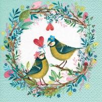 Lunch Servietten Bird wedding