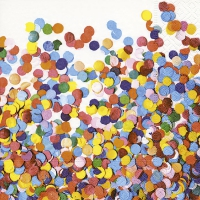 Serviettes de table 33x33 cm - confettis