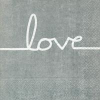 Lunch Servietten Love line