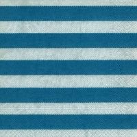 Lunch Servietten Linen stripes blue