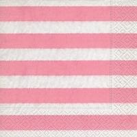 Lunch Servietten Linen stripes pink