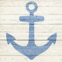 Napkins 33x33 cm - Anchor sign white