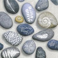 Lunch Servietten Painted stones