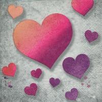 Lunch Servietten Pink hearts
