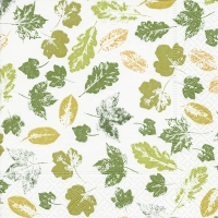 Serviettes lunch Stamped leaves