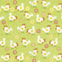 Serviettes de table 33x33 cm - Ferme de poulets