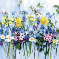 Servilletas 33x33 cm - flores primaverales