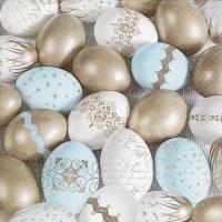 Napkins 33x33 cm - Precious eggs