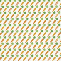 Serviettes de table 33x33 cm - Motif carottes