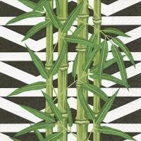 Servietten 33x33 cm - Bambusblätter
