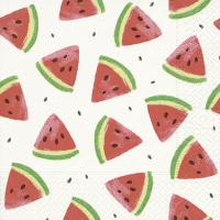 Servetten 33x33 cm - Meloen stukken