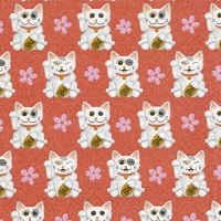 Serviettes de table 33x33 cm - Maneki-neko