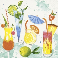 Napkins 33x33 cm - Colourful drinks
