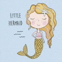 Napkins 33x33 cm - Little mermaid