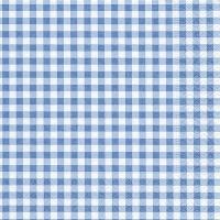 Servietten 33x33 cm - Neu Vichy blau