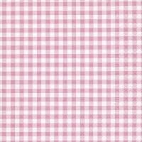Serviettes de table 33x33 cm - Nouveau rosé de Vichy