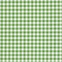Serviettes de table 33x33 cm - Nouveau vert forêt de Vichy