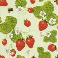 Napkins 33x33 cm - Strawberry field