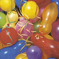 Lunch napkins Colourful balloons