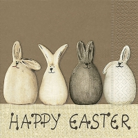 Napkins 33x33 cm - Happy Easter bunnies