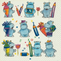 Lunch napkins School hippos