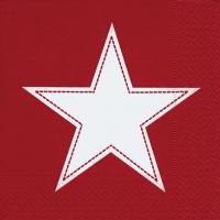 Lunch Servietten Simply Star red