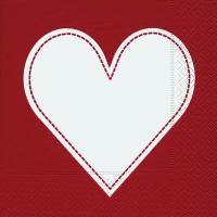 Lunch Servietten Heart red
