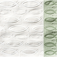 Napkins 33x33 cm - Moments ICHTHYS minted