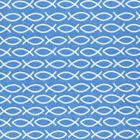 Lunch napkins Religious blue