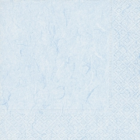 Serviettes de table 33x33 cm - Bleu pastel pur