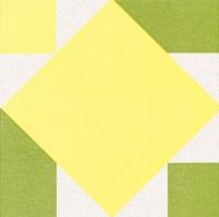 Dinner Servietten Origami Serviette Seerose gelb/grün