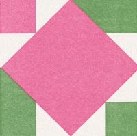 Dinner Servietten Origami Serviette Seerose pink/grün
