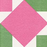 Dinner Tovaglioli Origami Serviette Seerose pink/grün