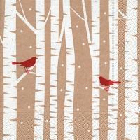 Cocktail Servietten Red birds
