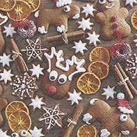 Servilletas Cocktail Gingerbread cookies