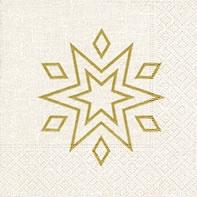 Servietten 25x25 cm - Sternenklar weiß/gold
