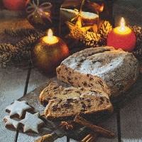 Cocktail Servietten Christstollen