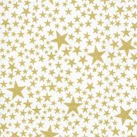 Napkins 25x25 cm - Starlets white/gold