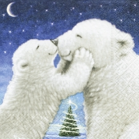 Lunch napkins Polar bear kiss