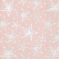 Lunch napkins Stellar dust rosé