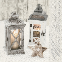 Serviettes lunch Wooden lanterns