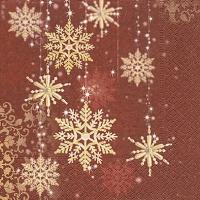 Lunch Servietten Golden snowflakes