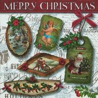 Lunch Servietten Christmas labels