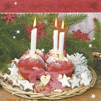Serviettes lunch Advent decoration