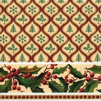 Lunch napkins Christmas pattern