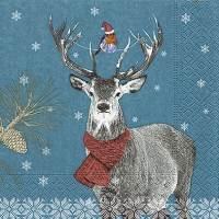 Lunch napkins Robin and deer