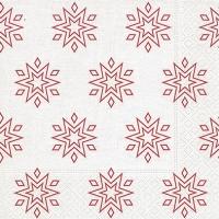 Napkins 33x33 cm - Starry white/red